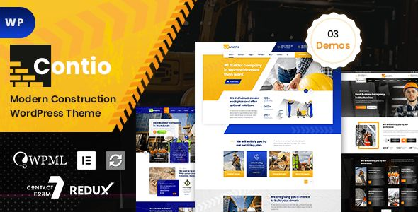 Contio - Construction and Building WordPress Theme Theme Features ...