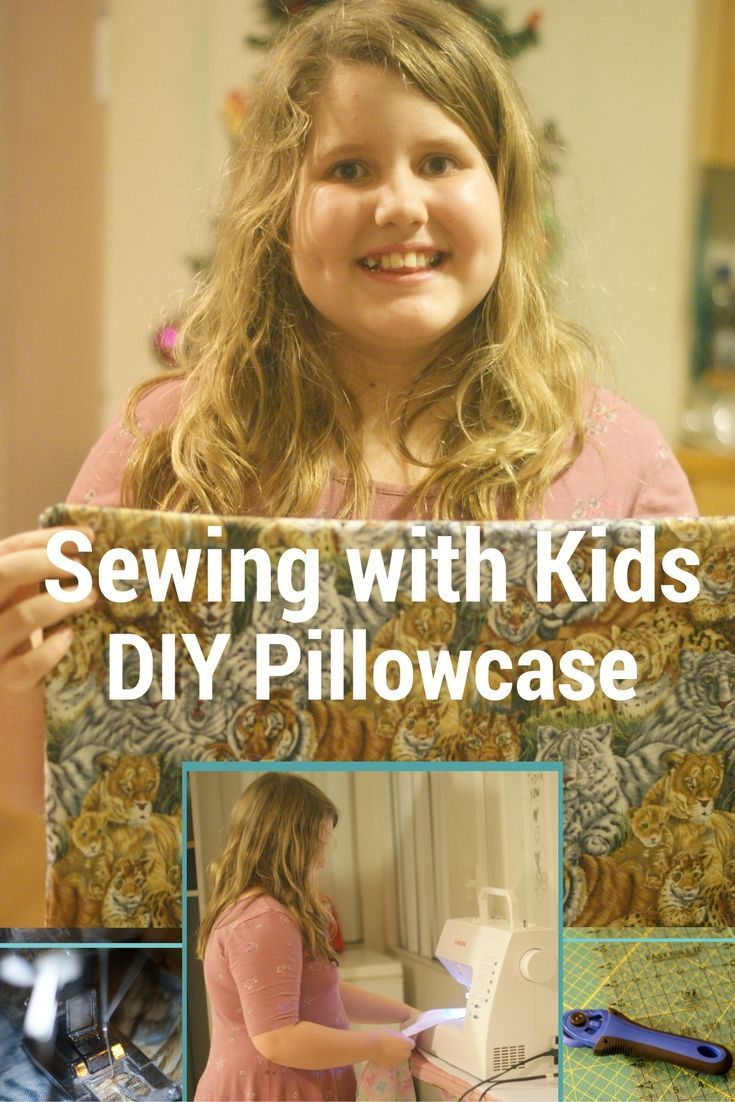DIY Pillowcase | Sewing with Kids - Teaching kids to sew can be so fun. We have been working on learning to sew while having fun. This easy pillowcase tutorial is a sewing project kids can do.