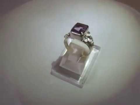 Cincin Vintage Silver 925 Amethyst Ring 7US Harga Rp. 475.000