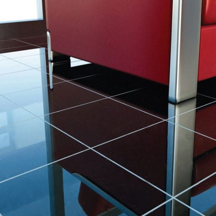 This black granite floor tile is suitable for indoor use throughout the  home. It has
