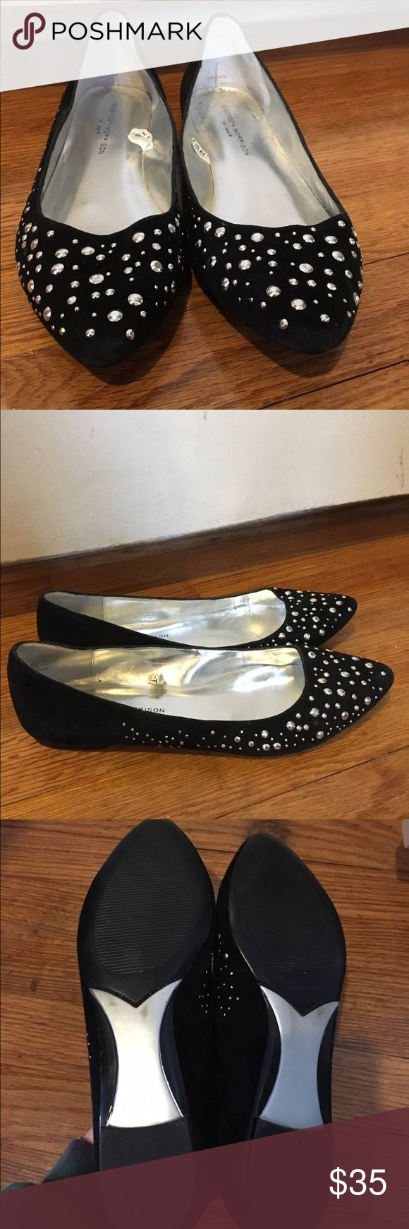 Sigerson Morrison for target black flats  NWOT Nwot sigerson Morrison for target black suede silver studded flats. Cleaning out the closet looking for a new home! sigerson morrison for target Shoes Flats & Loafers