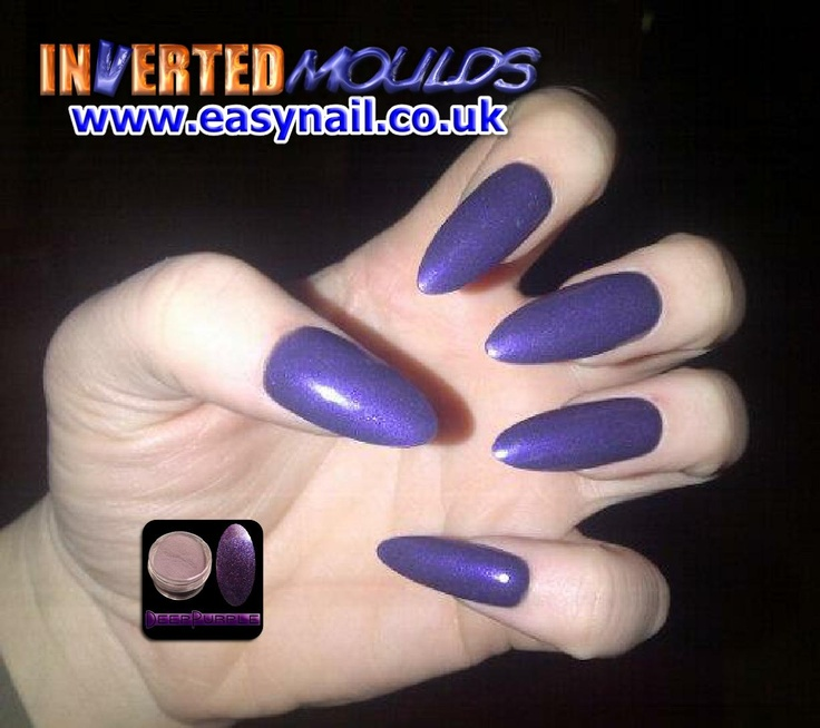 Deep Purple Claw Inverted Moulds by Karen Stockton from
