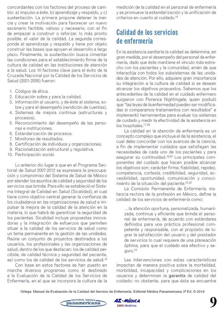 Elementos Conceptuales de Calidad en Salud y Calidad de los servicios de enfermería