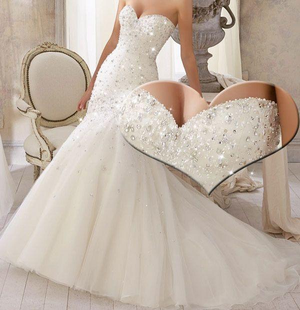 25% off Long Tulle Sleeveless Mermaid Wedding Dress 2014 Sweetheart Neckline
