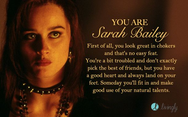 I'm Sarah Bailey. Which '90s gal are you?  - Quiz