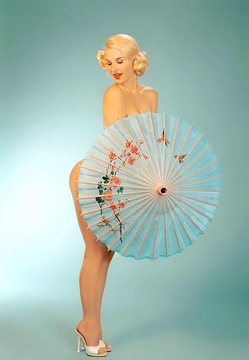 Vintage pinup of Lana Landis #2 By: Robert Jensen