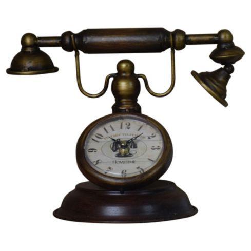 Reloj teléfono de mesa 24 cm