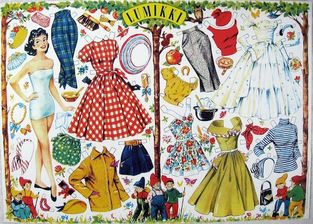 Vintage Paper Dolls   Gabi's Paper Dolls Lumikki, Finland