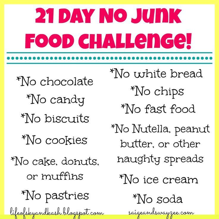 no junk food for 21 days - Google Search