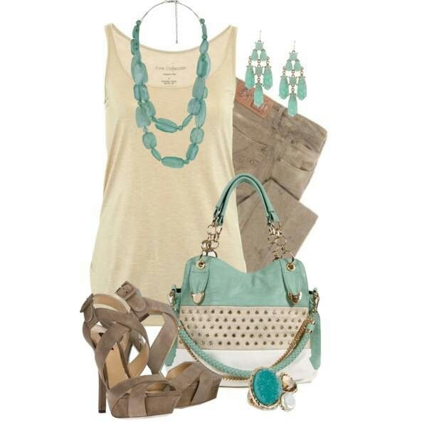 Taupe & Turquoise Love this color combination