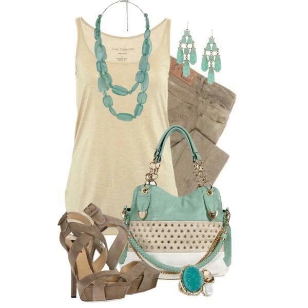 Taupe & Turquoise Love this color combination: beige rok met deze kleur erbij!!