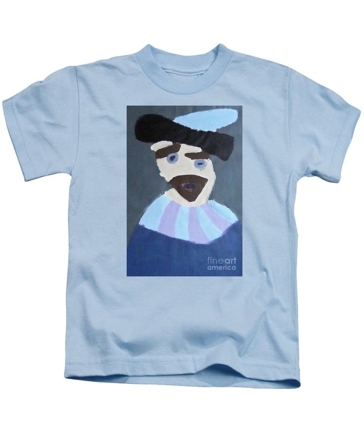 Patrick Kids T-Shirt featuring the painting Young Rembrandt In A Plumed Hat 2014 - After Rembrandt by Patrick Francis