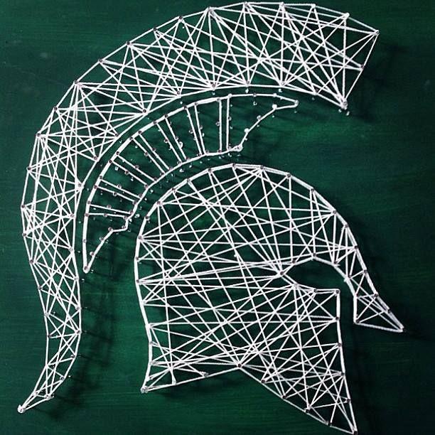 Michigan State Spartans string art