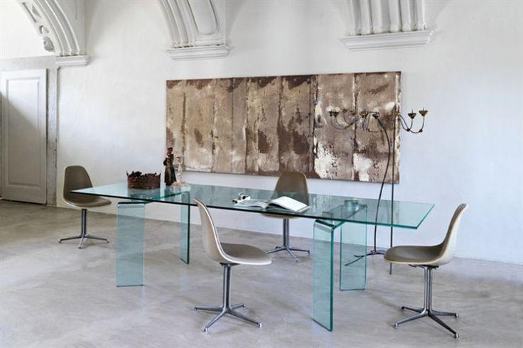 GlazenDesignTafel.nl | Glazen eettafel Ray | FIAM | Italian design | Glass table by Bartoli Design | vidre glastoepassingen, Leiden