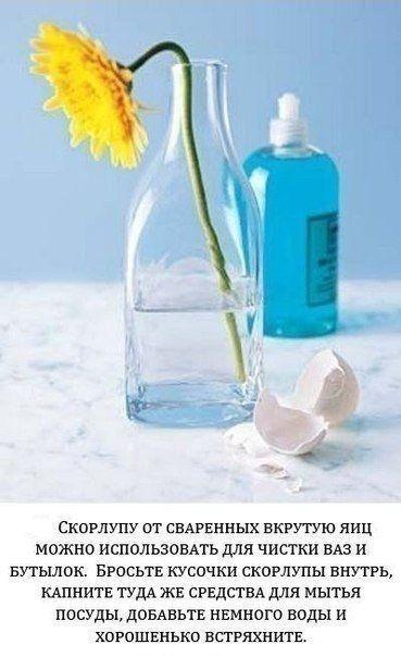 Совет по чистке ваз и бутылок