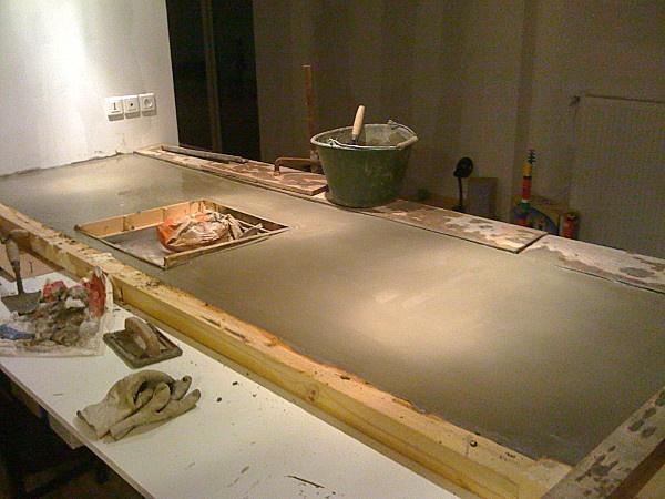 plan de travail beton
