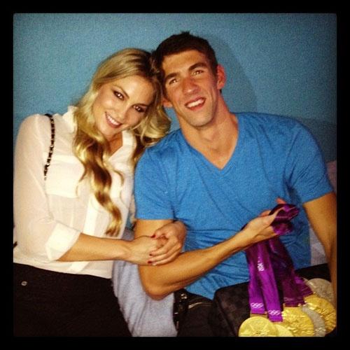 Michael Phelps, el mejor nadador del mundo, está enamorado... ¿quién es ella? #swimmer #london2012 #olympics