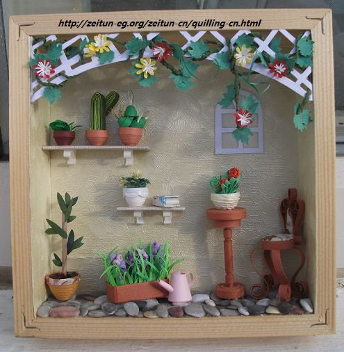 Framed QuiLLeD SuMMeR GReeNHouSE tutorial