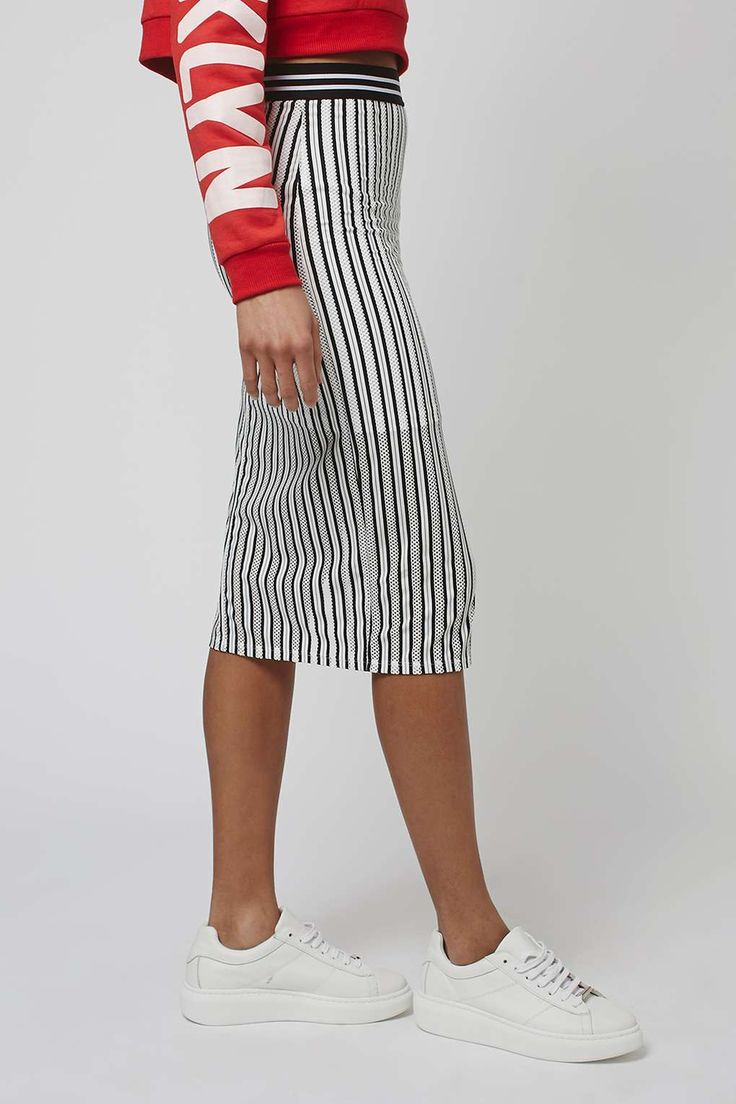 Airtex Stripe Tube Skirt - Skirts - Clothing - Topshop