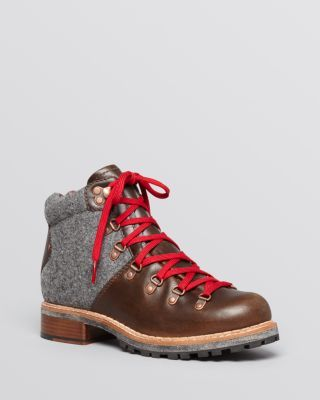 Woolrich Lace Up Lug Sole Booties - Rockies Hiker
