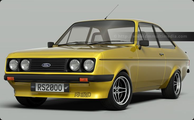 Escort MK2 RS2000 in Signal Yellow