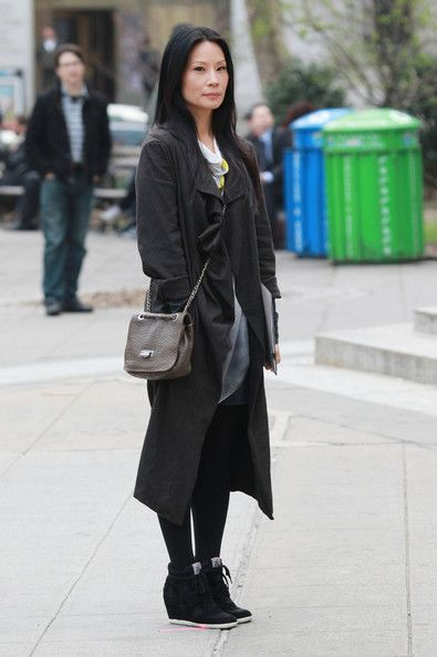 "Lucy Liu Films ""Elementary"" in New York City"