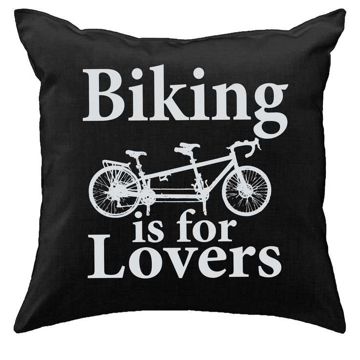 [ biking is for lovers // tandem bicycle ] | pillow