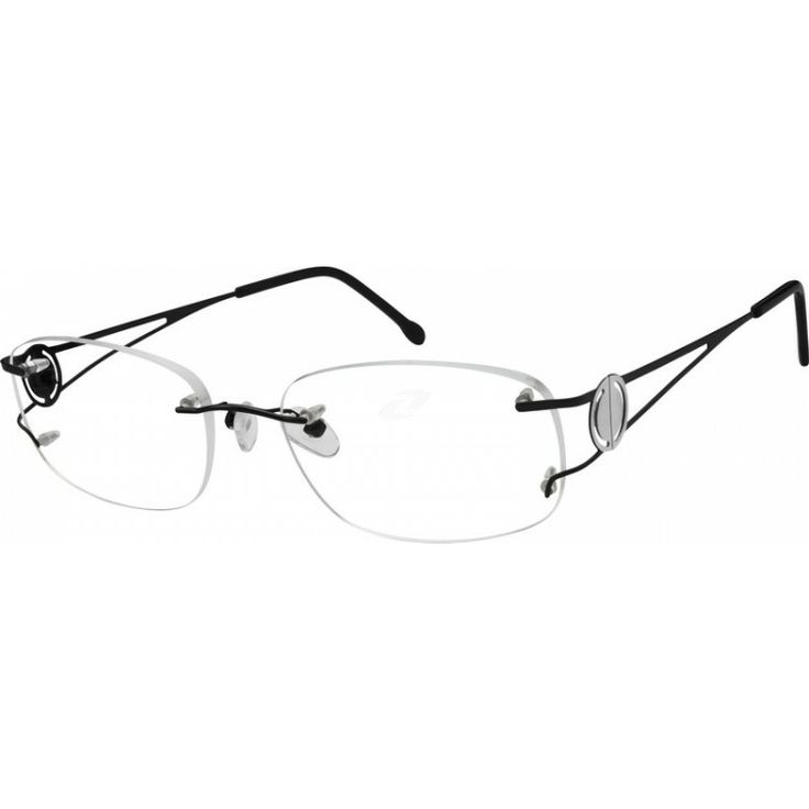 A rimless, titanium, very light and flexible frame.    This frame is shown with lens shape #222. Please refer to the len...Price - $45.95-hkI1cWo0