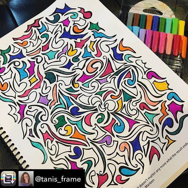 Love it when I get to see the book in action!  Thank you for sharing @tanis_frame - she's got play high in her priorities!! Sunday eve play with my @outsideyourlines coloring book. So grounding, so opening, so nourishing for my soul. Love it. #decidetothrive #creativityandplayarethewayhome #playgroundrules #outsideyourlines #shopetsy
