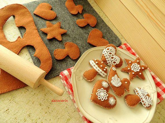 Baking Felt Cookies Set Felt Food Felt Gingerbread children