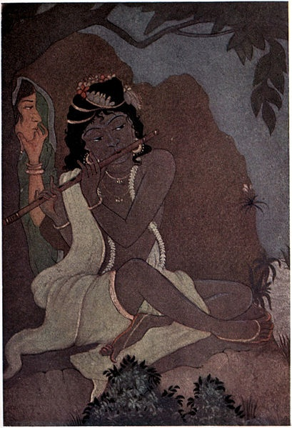 "Illustration by Abanindranath Tagore from ""Myths of the Hindus & Buddhists"" (1914) via Wikimedia Commons."