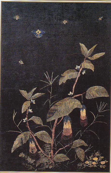 (Korea) Embroidery Folding screens by Shin Saimdang (1504-1551). Donga University Museum. Treasures No.595.