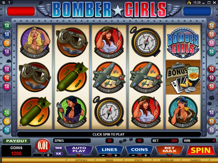Play the Bomber Girls Online Slot at Crazy Vegas Casino. It's a 5 Reel 20 Payline Slot that includes a Bonus Game and Free Spins! Find it at Crazy Vegas Casino, https://www.crazyvegas.com/