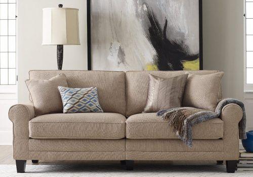"Serta RTA Copenhagen Collection 78"" Sofa in Marzipan - Comfortable Sleeper Sofas"