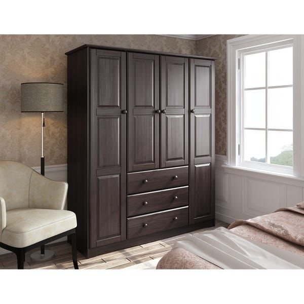 Family 4 Door Solid Wood Wardrobe Armoire Closet By Palace Imports