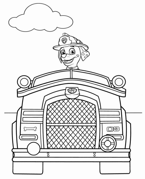 Marshall Paw Patrol Coloring Page Fresh Marshall Vehicle Picture To Color Birthday Coloring Pages Paw Patrol Coloring Paw Patrol Coloring Pages