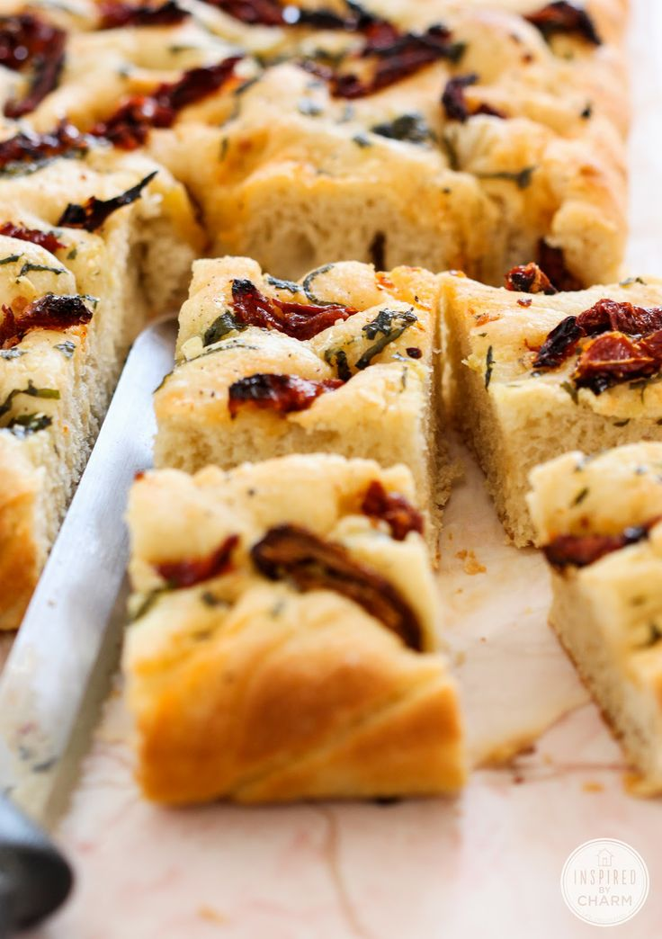 Inspired by Charm: A Year of Yeast: Sun-Dried Tomato Focaccia