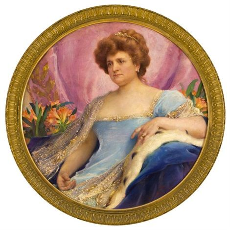 Portrét dámy s květinovým zátiším by Frantisek Dvorak