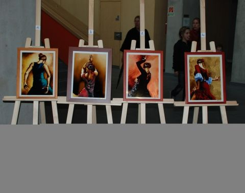 Andalúz táncos IV. - festett üvegkép, üvegfestmény kiállítás www.asterglass.hu Burján Eszter 'Aster' üvegfestő művész