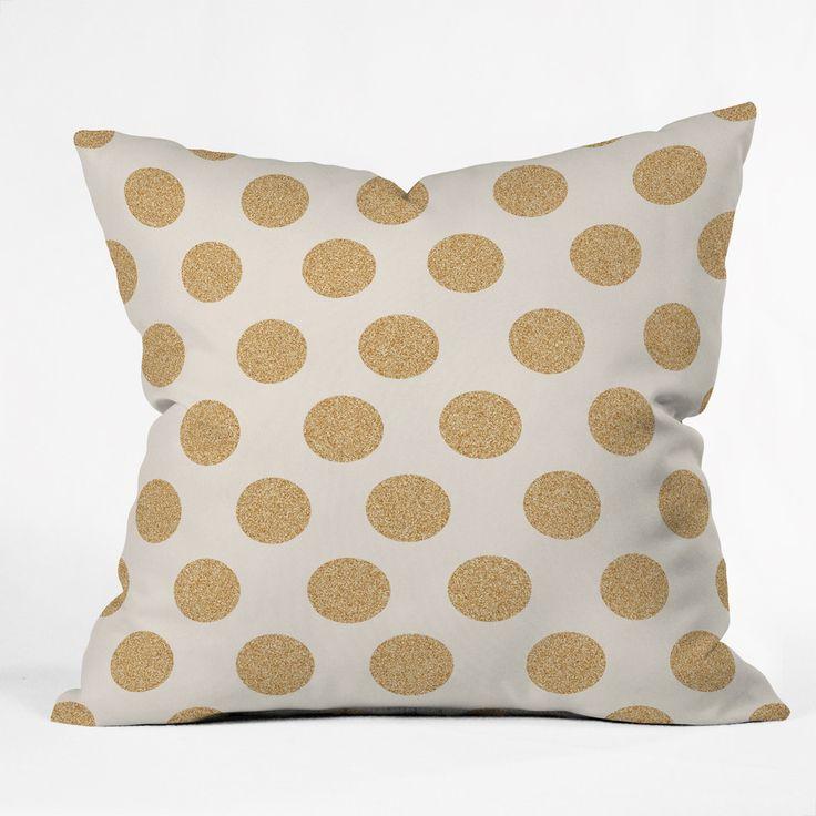 Allyson Johnson Gold Dots Throw Pillow Home, Throw pillows and Outdoor
