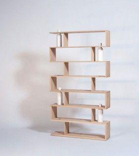 Bücherregal - Massivholz - BIBLIOFLEUR - Designer - Drugeot Labo