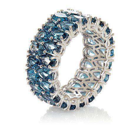 Victoria Wieck true London Blue Topaz 2-Row Eternity Ring Item # 288-186 . june 2014