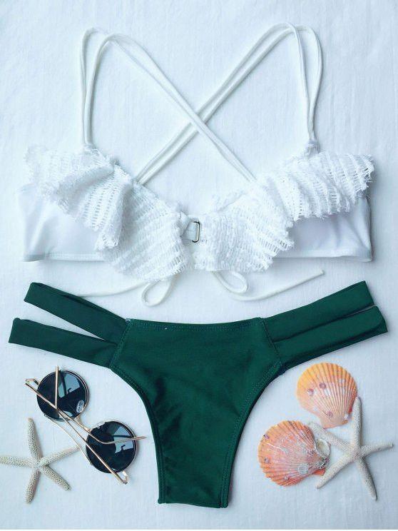 Spliced Criss-Cross Bikini Set