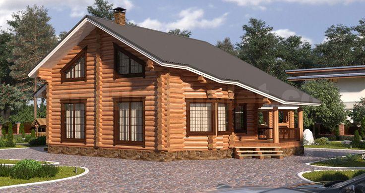 Проект деревянного дома — дом из бревна Завидово