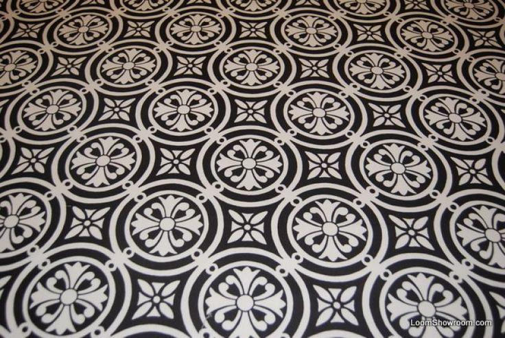HD73 Modern Moorish Block Print Tile Lattice Circle Design Pattern Black and White Heavy Weight Cotton Fabric Drapery fabric