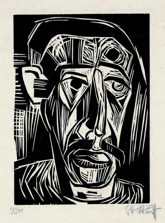 Karl Schmidt-Rottluff: Kopf eines Mannes (1922)