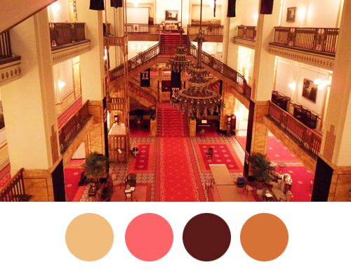 This Blog Visualizes The Color Schemes That Wes Anderson Uses In His Film - DesignTAXI.com --> The Grand Budapest Hotel