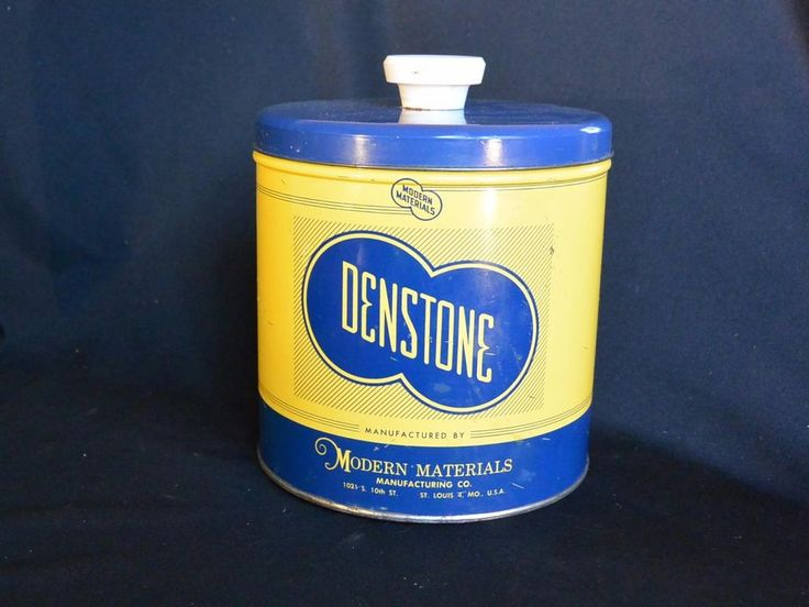 Vintage DENSTONE Merchandise Tin, Knob top Dental Plaster, 50s
