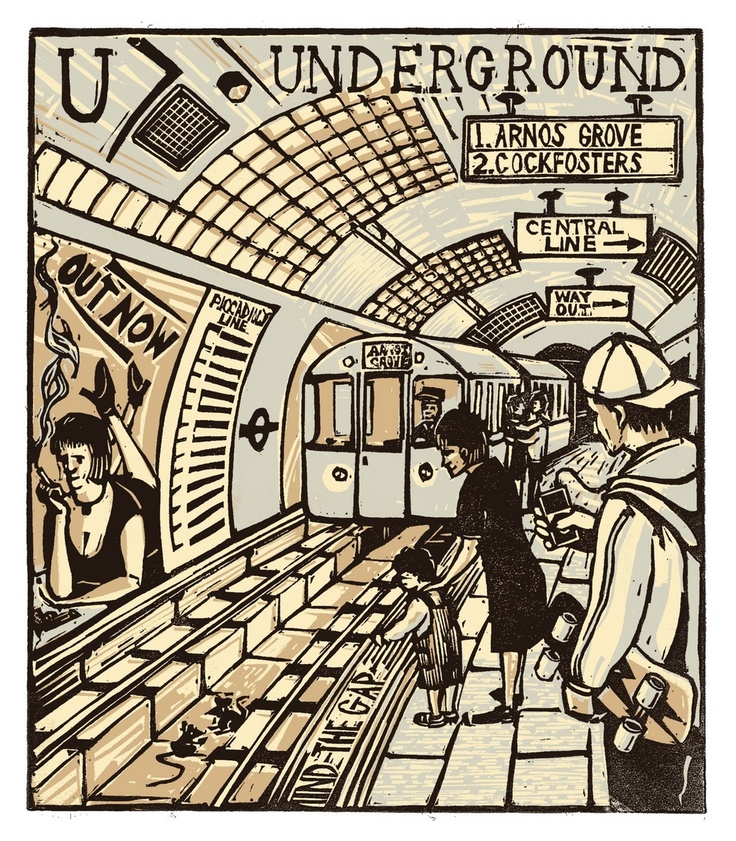 Tobias Till. U - Underground, London A-Z. Complete Boxed Set linocuts, 2012. http://www.tobias-till.co.uk/. [Pinned 9-iv-2015]