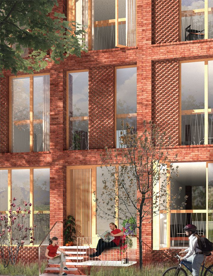 Architect: LETH & GORI, Powerhouse Company Link: LETH & GORI Social Housing Link: Afasiaarq